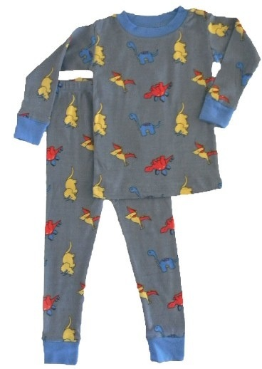 Boy's Organic Dinosaur Pajamas by New Jammies