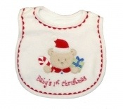 Baby Boy's First Christmas Bib