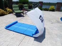 Pirate boat pool raft