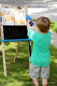 Squirt-Gun-Painting-in-Summer