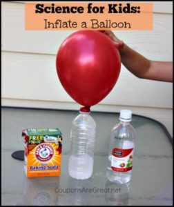 blow up a balloon with science