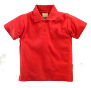 Pique Polos in red