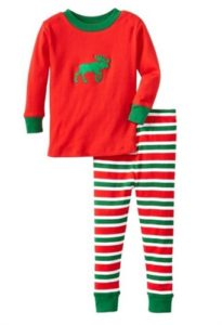 Holiday pajamas - moose