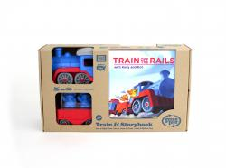 toy train and book set