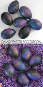 Easter Egg Decorating - Galaxy eggs