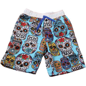 fun in the sun skulls swim trunks