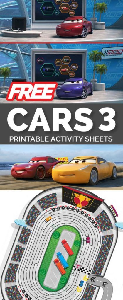 Download free Cars 3 printable