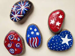 Painted rocks - July 4 versions