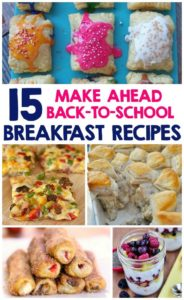 Back to school hacks - Breakfast recipes