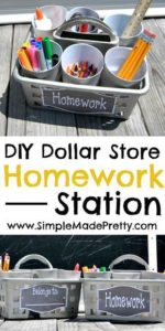 Back to school hacks - homework station