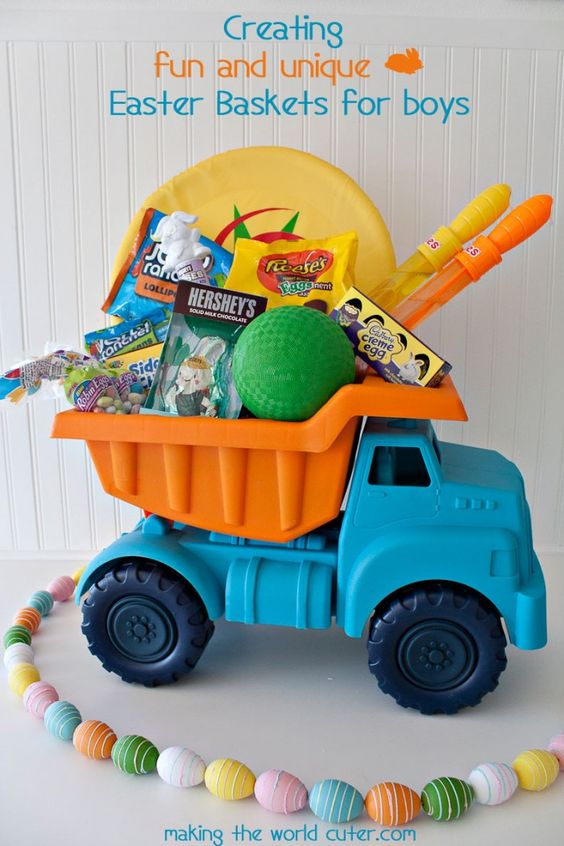 Easter baskets archives the boys store blog ages newborn 2 years old construction vehicle easter ideas negle Image collections